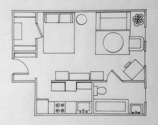 Apartment Design Contest laura's sunny studio — small cool contest | apartment therapy