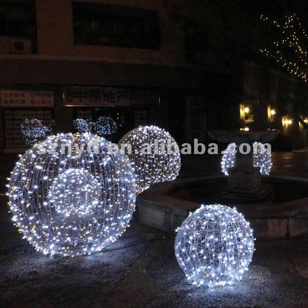 Large Led Christmas Ball For Outdoor Light Decorations Hanging Christmas Lights Diy Christmas Lights Christmas Light Installation