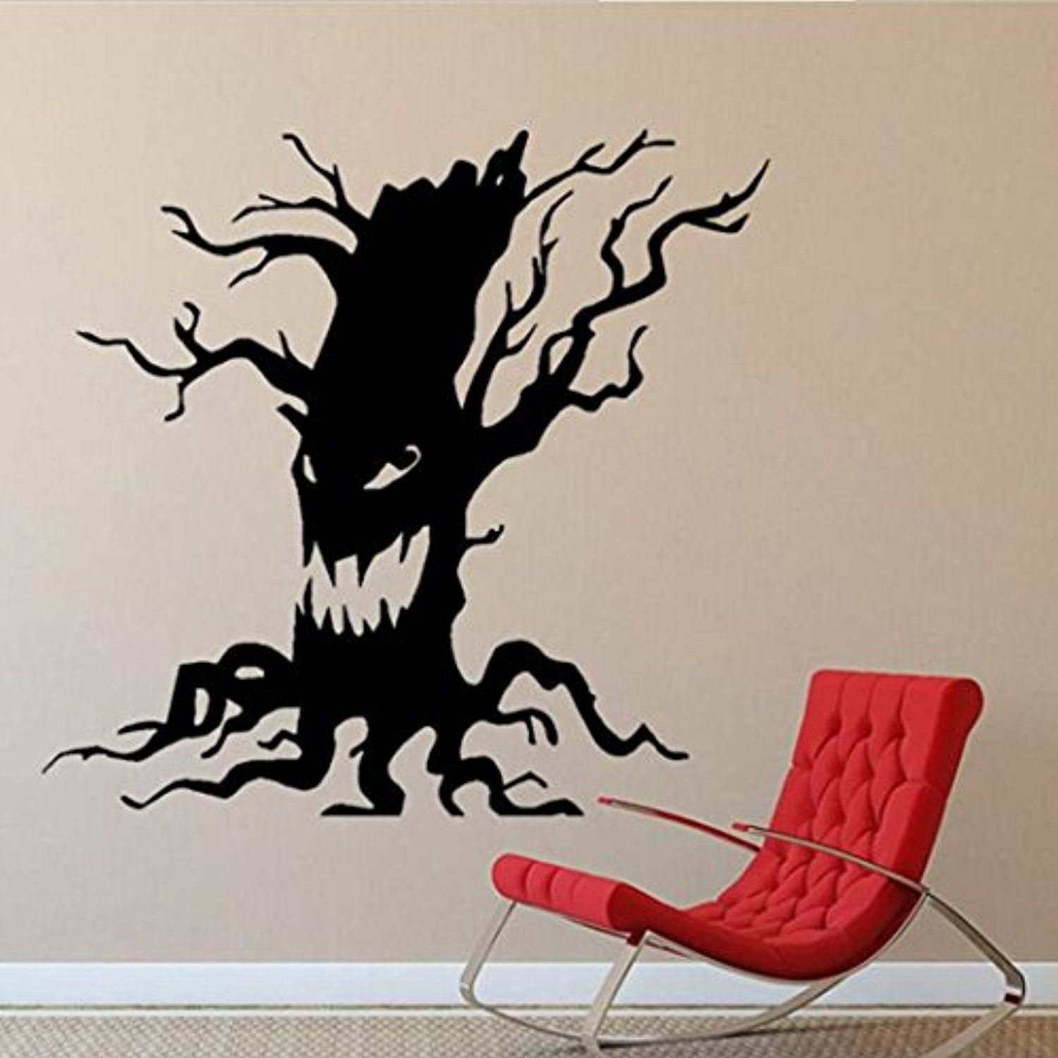 Gotd Wall Sticker Vintage Happy Halloween Room Floor Sticker Mural Decor Decal Removable Halloween Decorations Black B Details Can Be Found By Clicking
