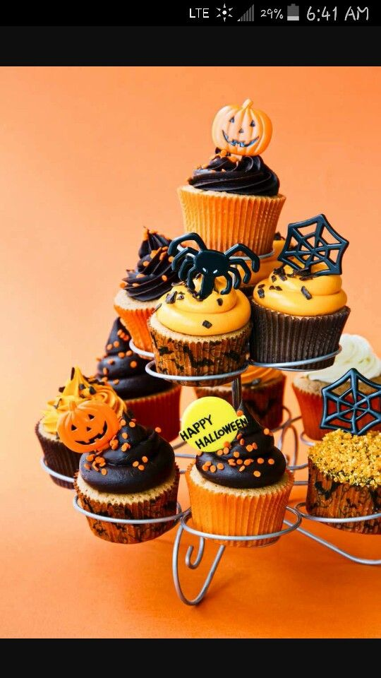 A piece of mind Happy Halloween Pinterest Harvest party - how to decorate cupcakes for halloween