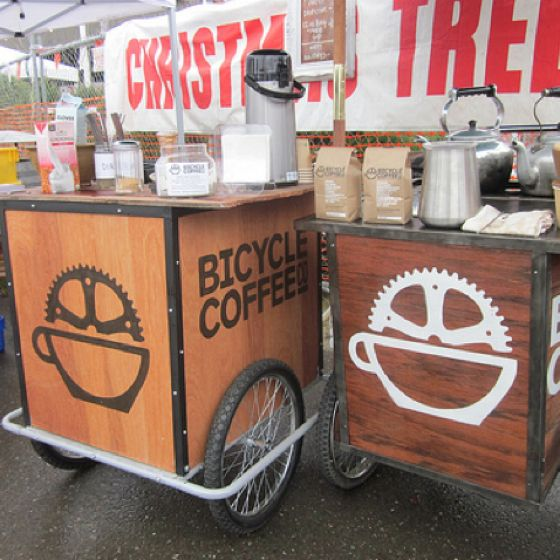 Apres dinner coffee stand | Bicycle Coffee, Oakland, CA