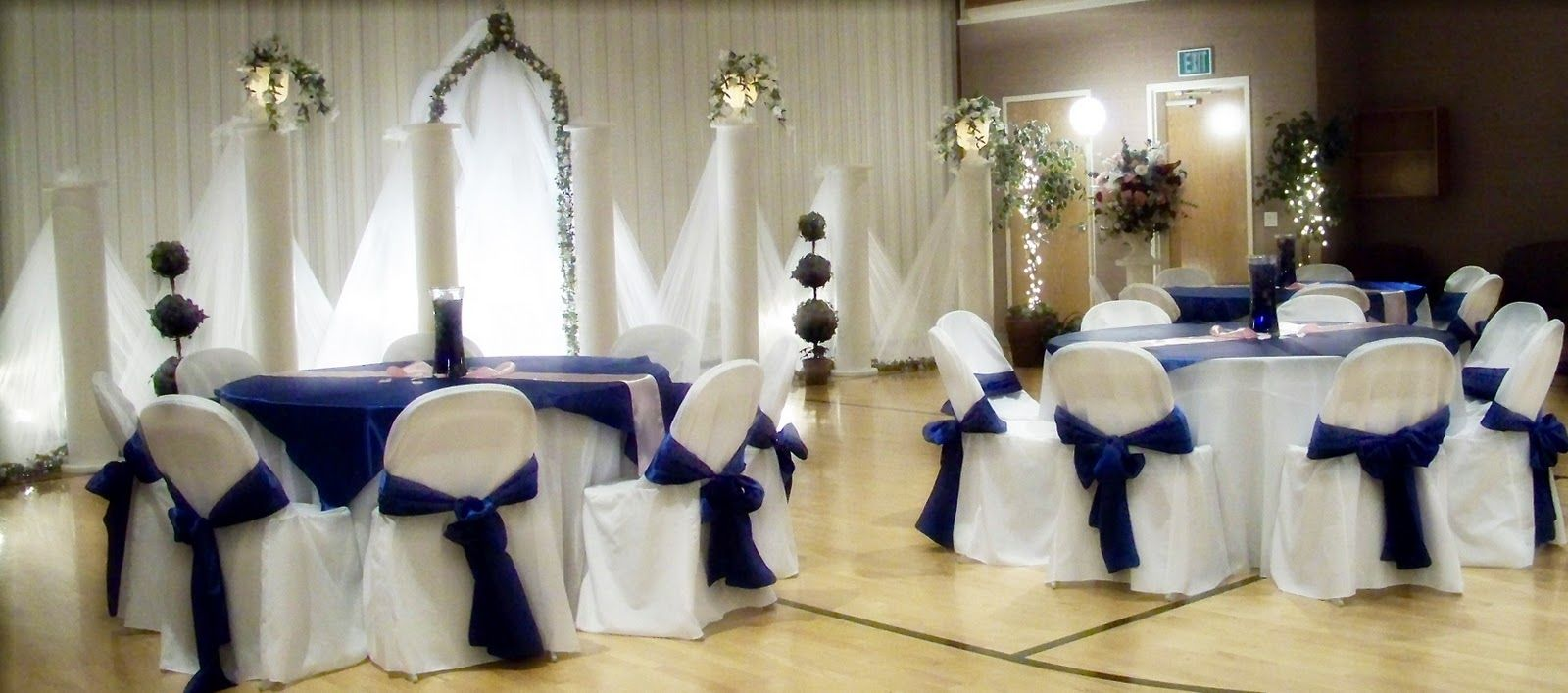 Wedding Table Royal Blue Wedding Table Decorations silver and light blue decor beautiful tulle cross backdrop royal here are a few wedding decoration ideas pictures from events i have done wedding