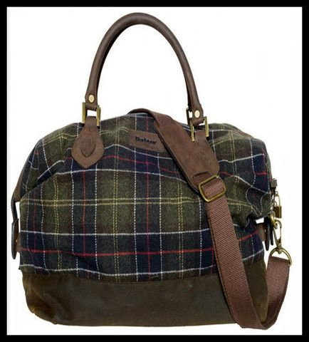 Barbour lochy explorer bag in classic tartan. Smyths Country Sports.