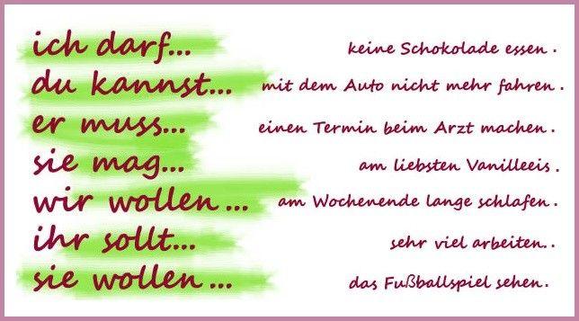 Deutsch Lernen Die Modalverben Prasens Prateritum 14