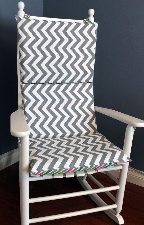 Rocking Chair Cushion - Candy Grey Chevron   Rocking chair ...