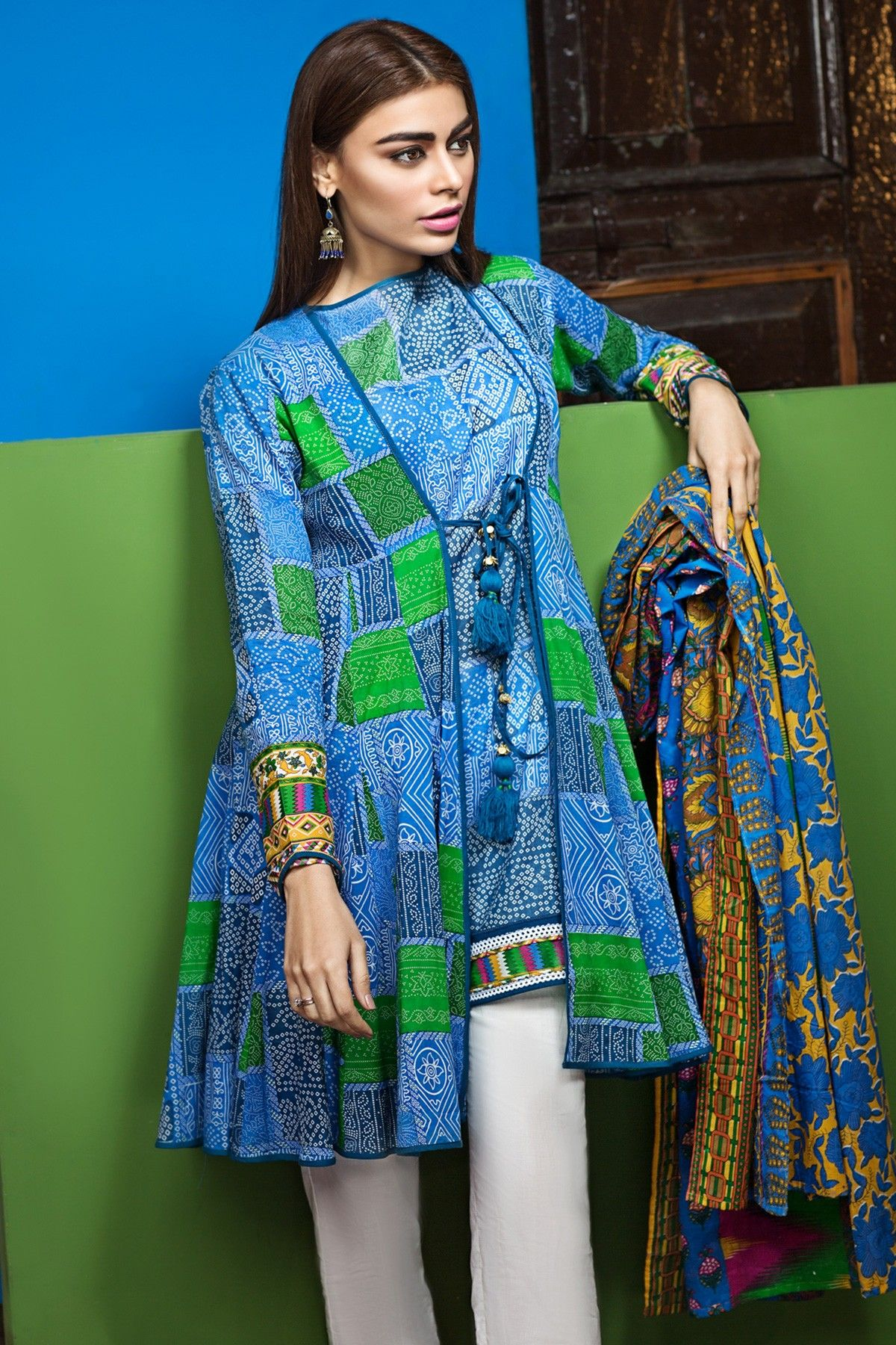 Warda spring summer collection 2016 vol 1 with prices beststylo com - Khaadi L17107 B Blue Lawn 2017 Vol 1 Unstitched