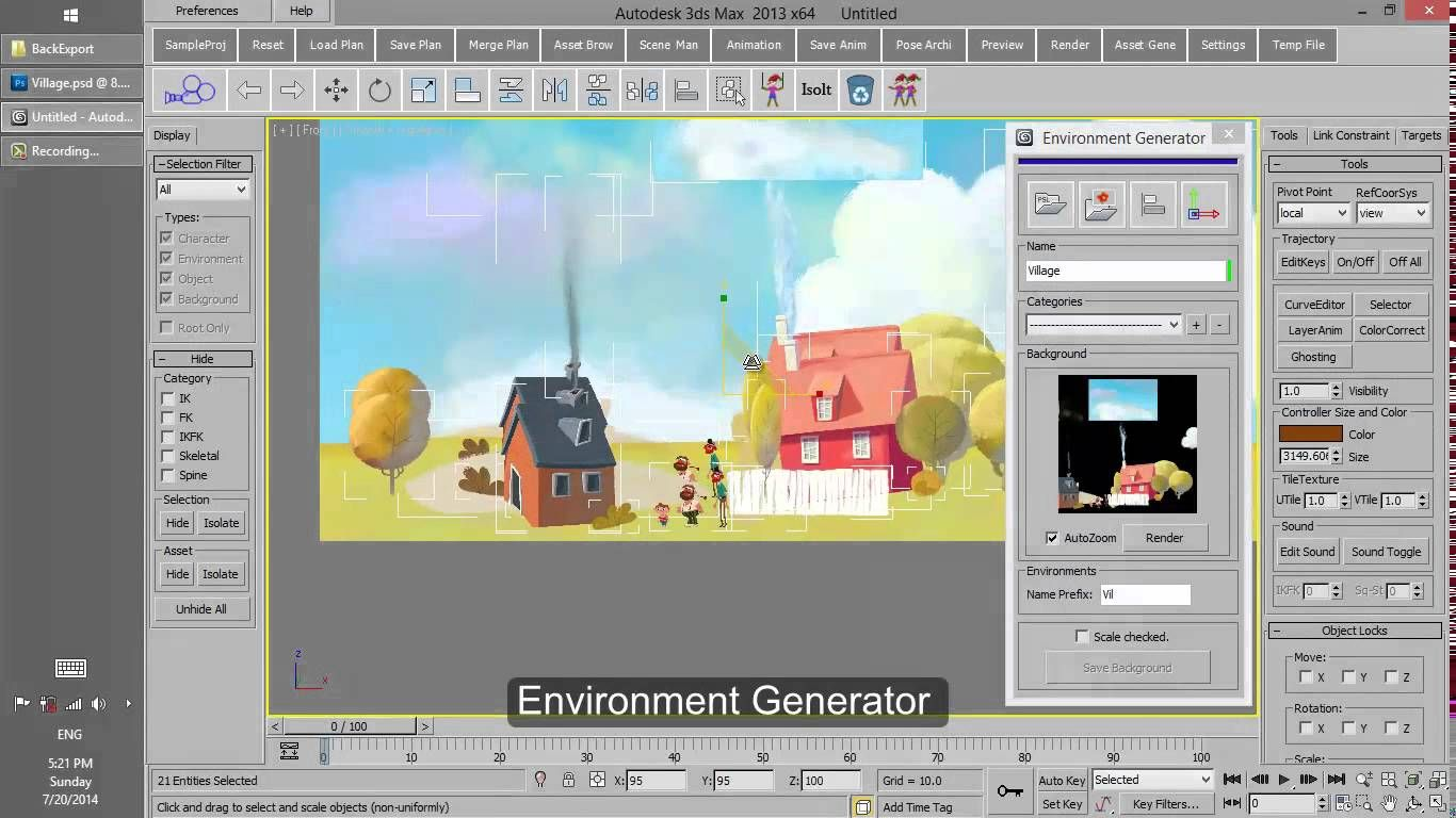 3Ds Max | 2D in 3D | Animation reference, Create animation