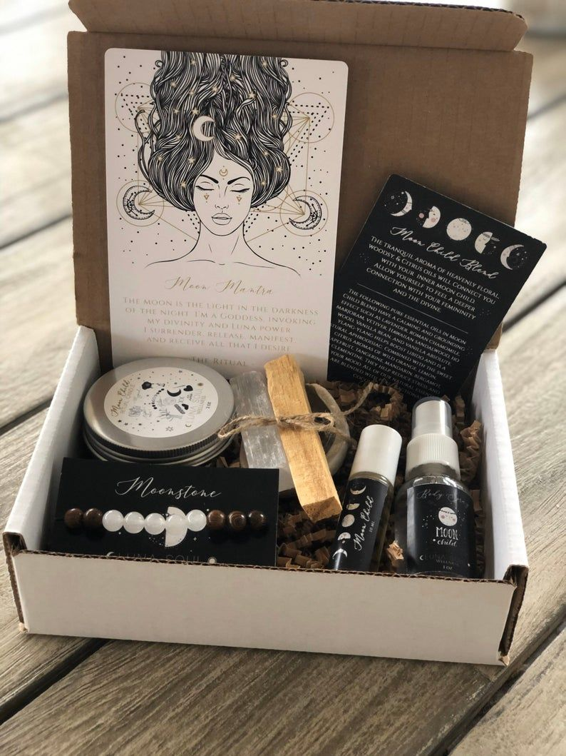 Goddess Moon Box Gift Set | Smudge Kit | Birthday Gift, Graduation Gift -   diy Tumblr gifts