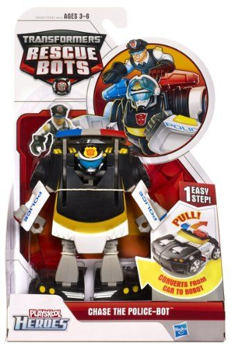 Amazon Com Transformers Rescue Bot Chase The Police Bot Toys Games Transformers Rescue Bots Rescue Bots Robots For Kids