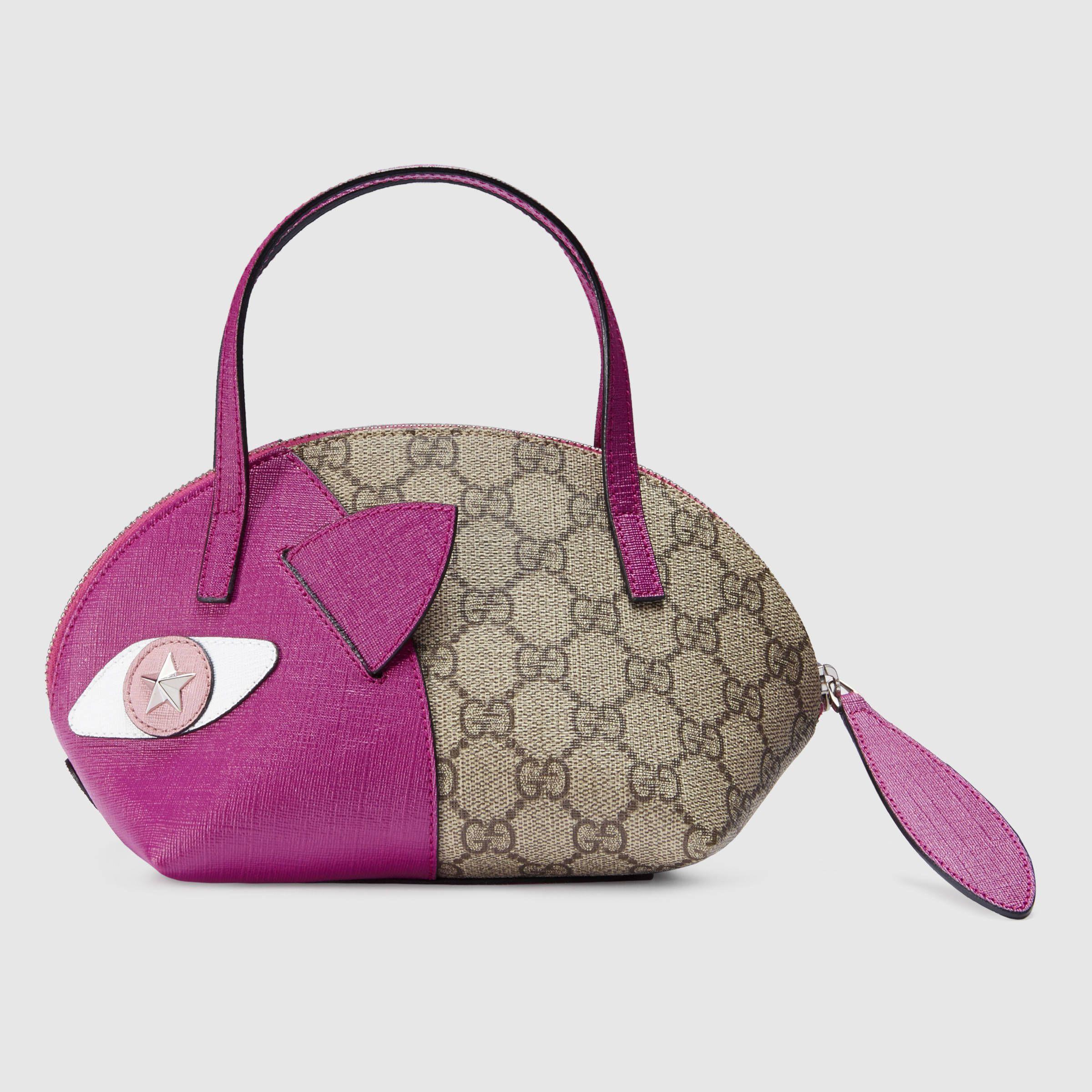 d6cb43a7 Gucci Children - Children's GG Supreme cat top handle ...