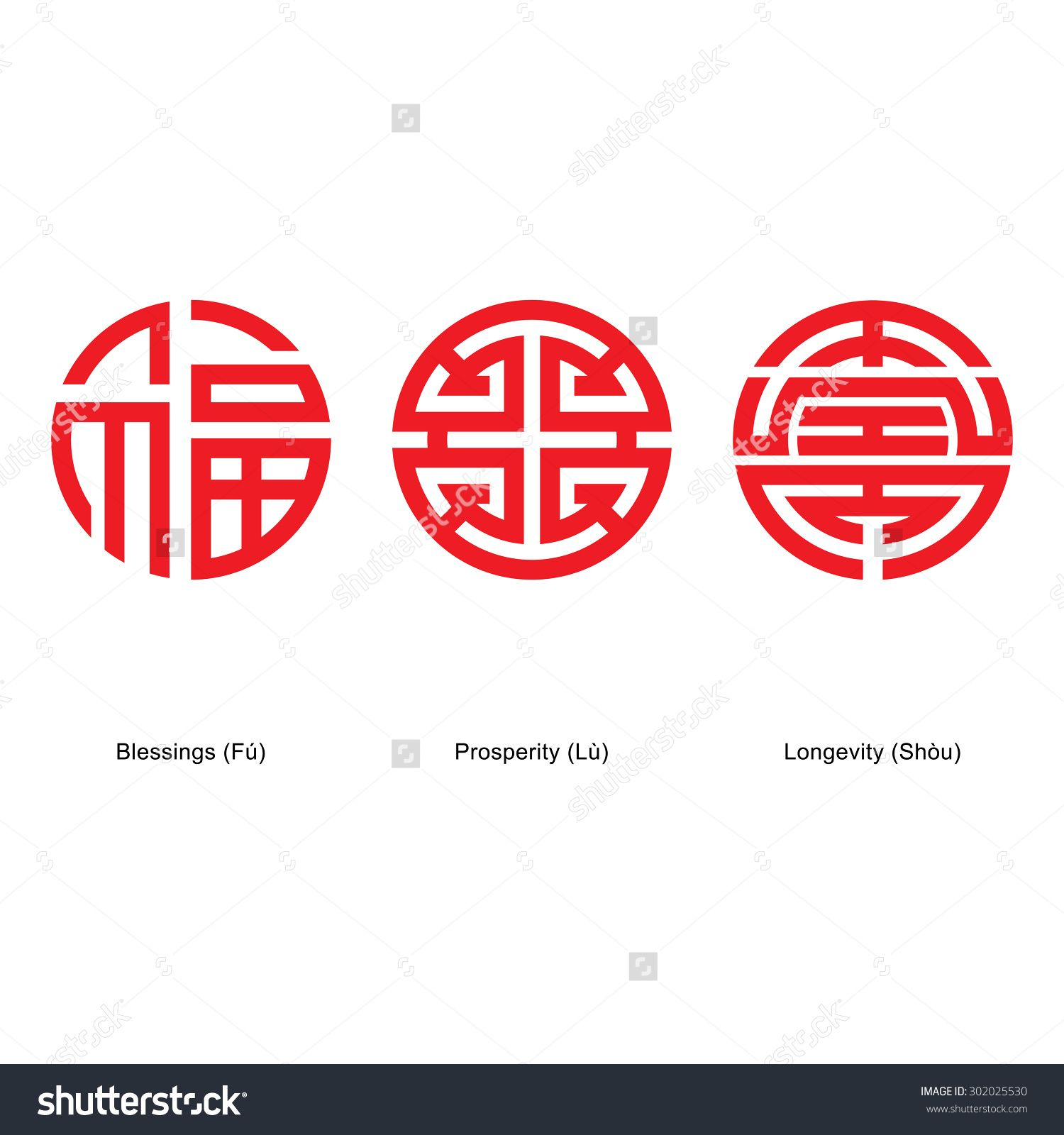 Chinese lucky symbols blessings prosperity and longevity chinese lucky symbols blessings prosperity and longevity description from shutterstock buycottarizona