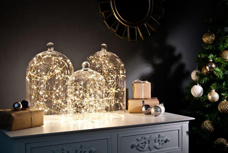 Eine glasglocke drei deko ideen interior inspo - Weihnachten wohnzimmer ...