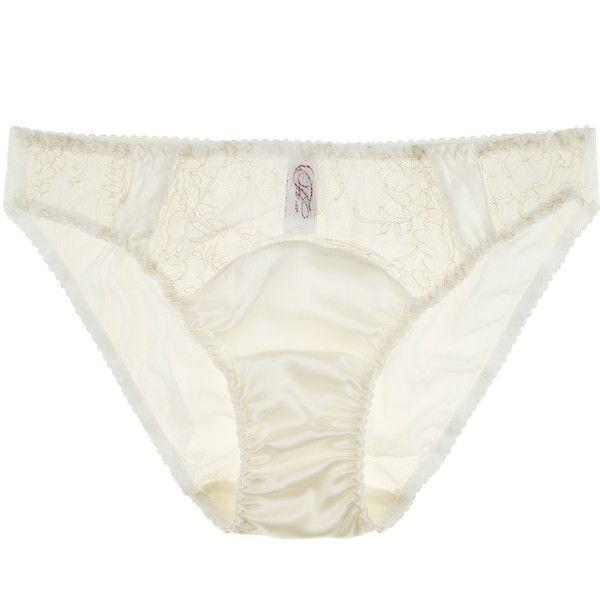 Fleur of England Snow Queen Lace Brief (285.310 COP) ❤ liked on ...