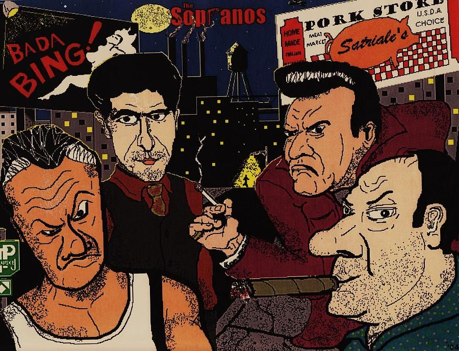 the sopranos digital art the sopranos fine art print