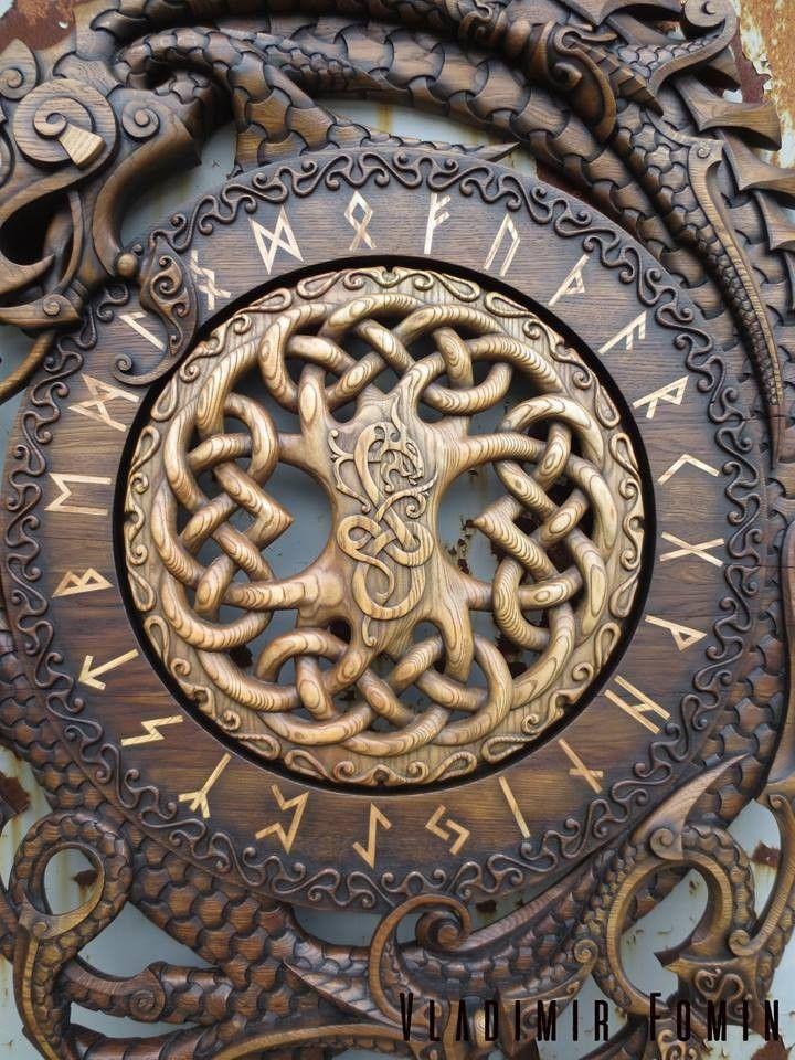 Holz yggdrassil runenkreis #norsemythology
