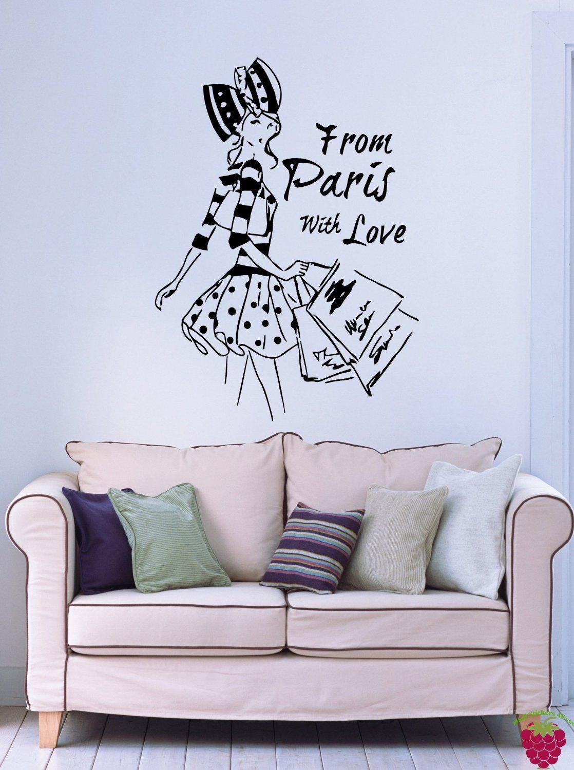 Amazon Com From Paris With Love French Fashion Woman Decor Wall