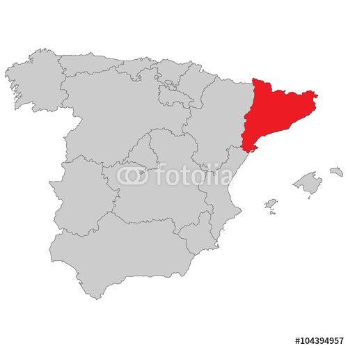 Spanien Katalonien Karte.Vektor Spanien Katalonien Fotolia Maps Map Cartography