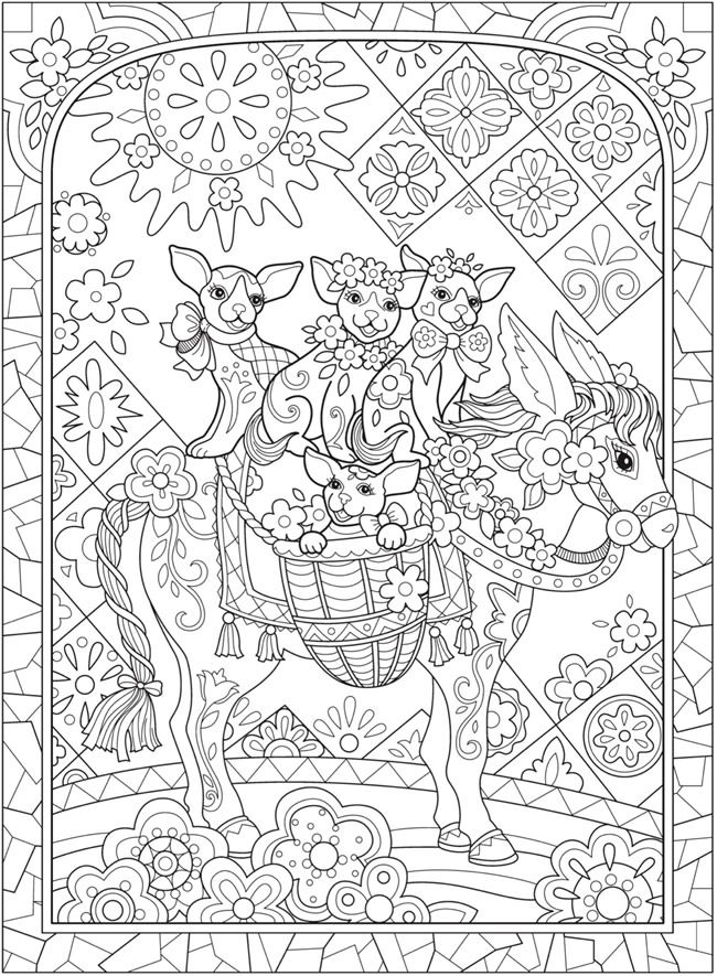 Creative Haven PLAYFUL PUPPIES Coloring Book By Marjorie Sarnat
