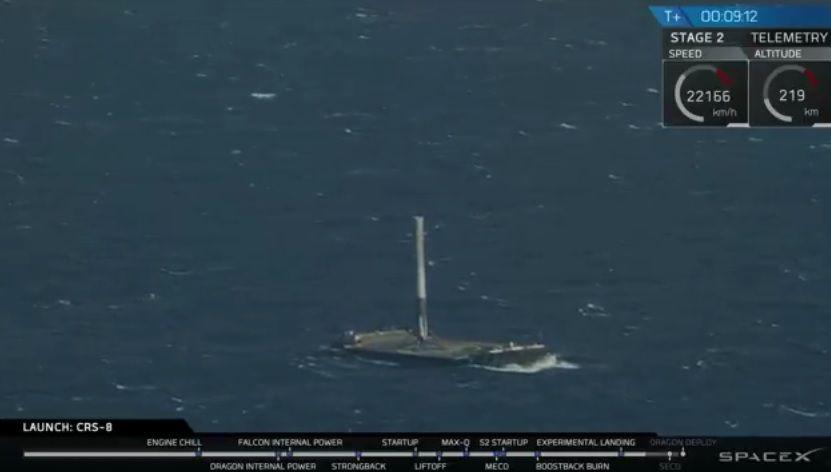 Por qué es importante el aterrizaje del cohete de SpaceX en la barcaza?