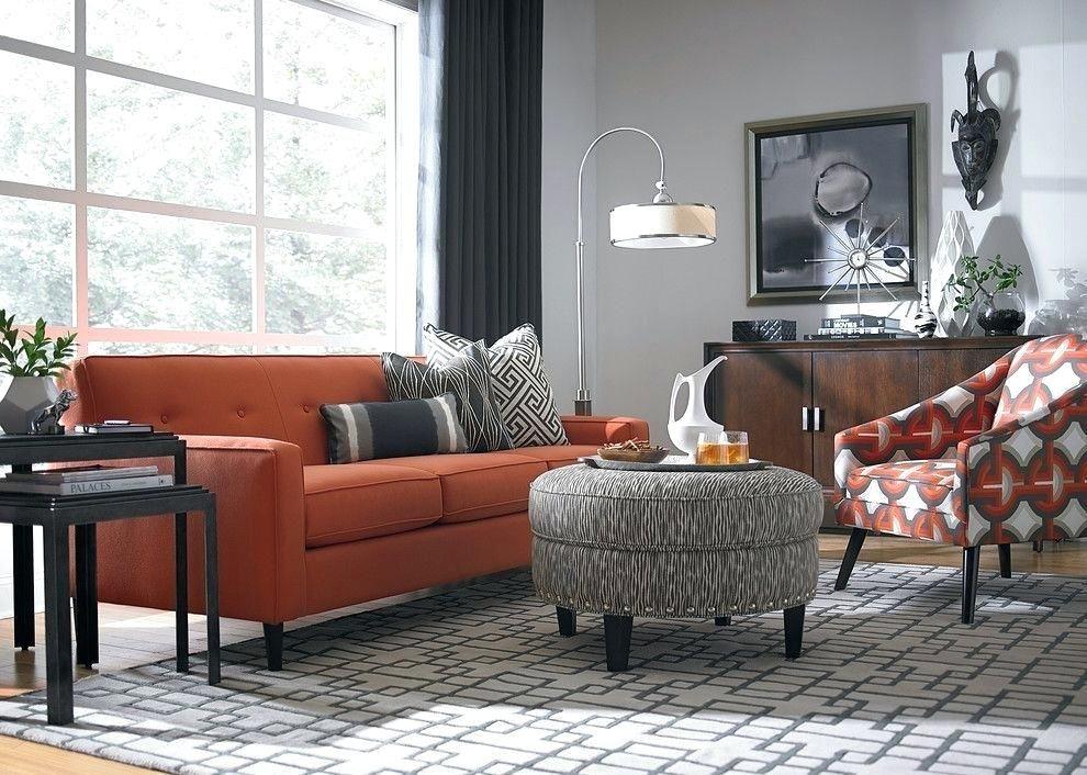 Orange Sofa Living Room Burnt Orange Light Gray For Room Orange