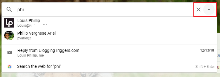 Search Gmail Emails by name