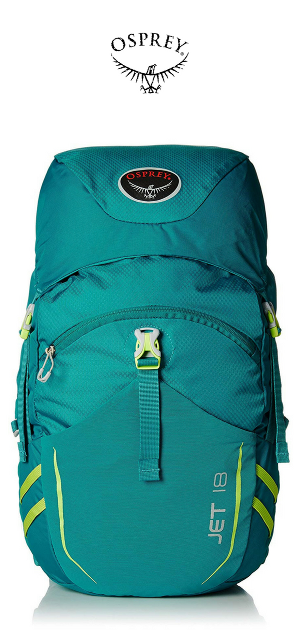 c7ece37f21 Osprey Youth Jet 18 Backpack | Real Teal | Click for More Osprey Backpacks!