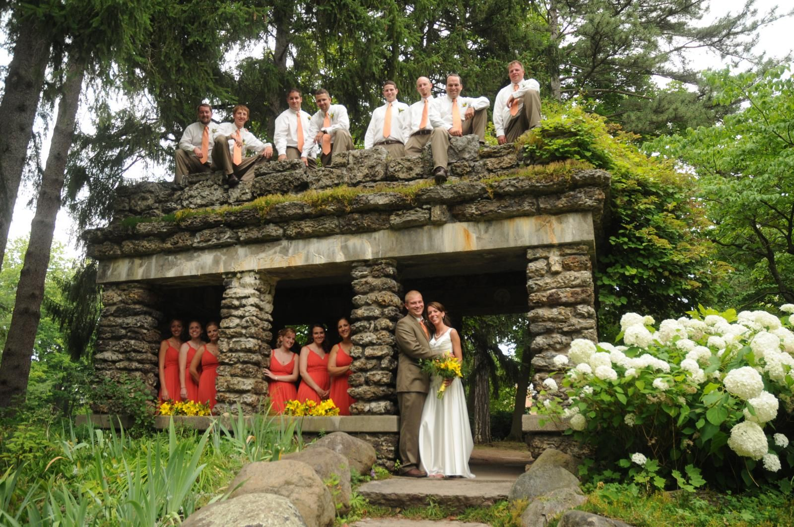Bridal Party At Sonnenberg Gardens Outdoor Wedding Reception Outdoor Wedding Bridal Party