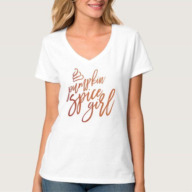 Pumpkin Spice Girl Ladies T-Shirt | Zazzle.com
