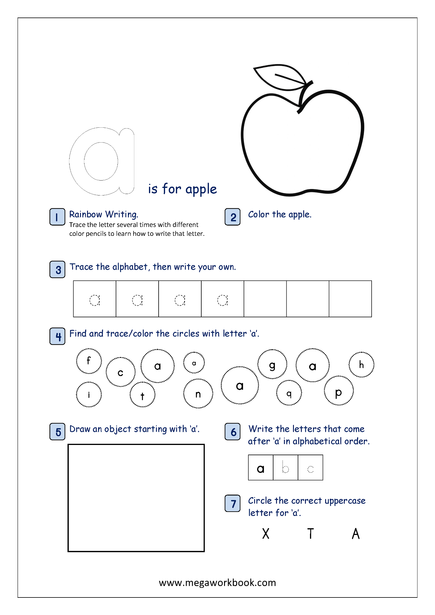 Lowercase Alphabet Recognition Activity Worksheet