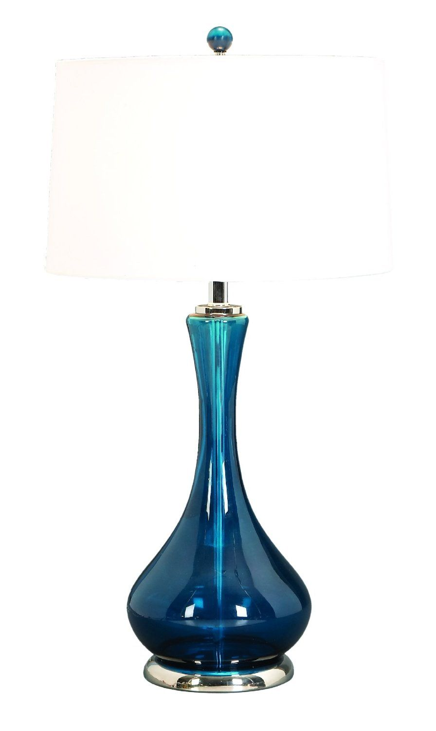 Blue glass table lamps  Amazon  Glass Table Lamp A Living Style Statement One Lamp by