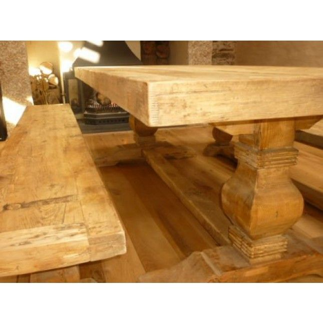 2 4m Reclaimed Elm Pedestal Table Extra Wide Sustainable