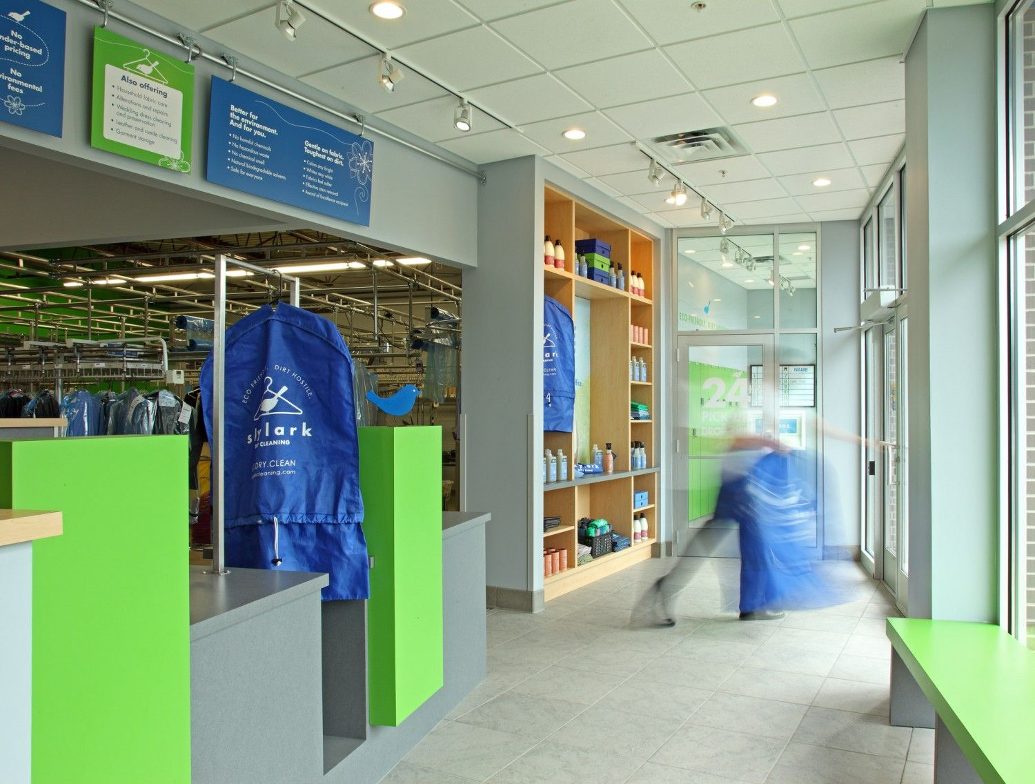 Mcmonigal Helped Skylark Dry Cleaning A Chemical Free Sustainable Cleaner Renovate An Existing Structure Rather Than Bu Laundry Shop Dry Cleaning Renovations