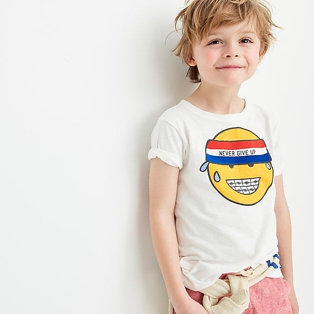 boys\u0027 never give up emoji t,shirt , boys\u0027 graphic tops