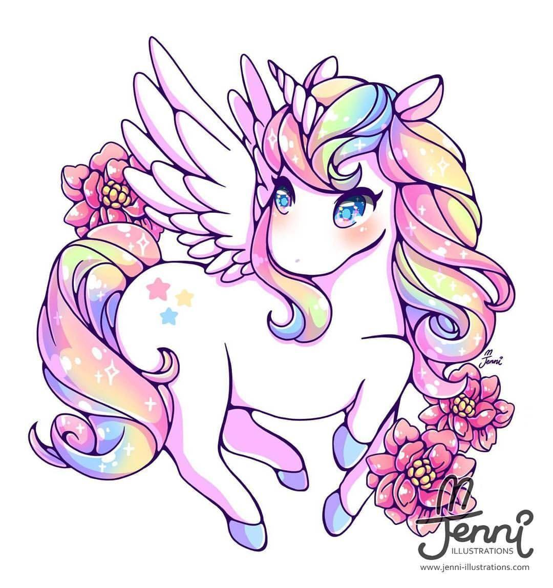 SUPER NICE!! Rainbow Alicorn . . . #jenniilustrations # ...