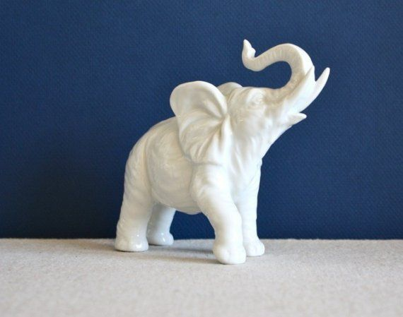 Porcelain Ceramic Elephant Figurines Statues