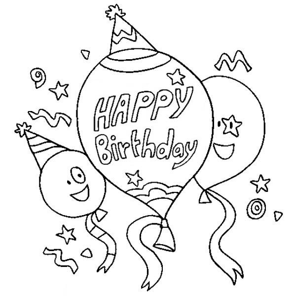 Birthday Card Coloring Pages: Happy Birthday Coloring Pages Free