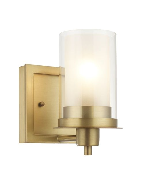 Photo of Juno Brushed Brass 1 Light Wall Sconce / Bathroom Fixture: 73485