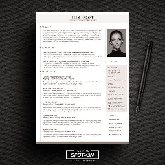 a lasting impression resume  cv design template   free