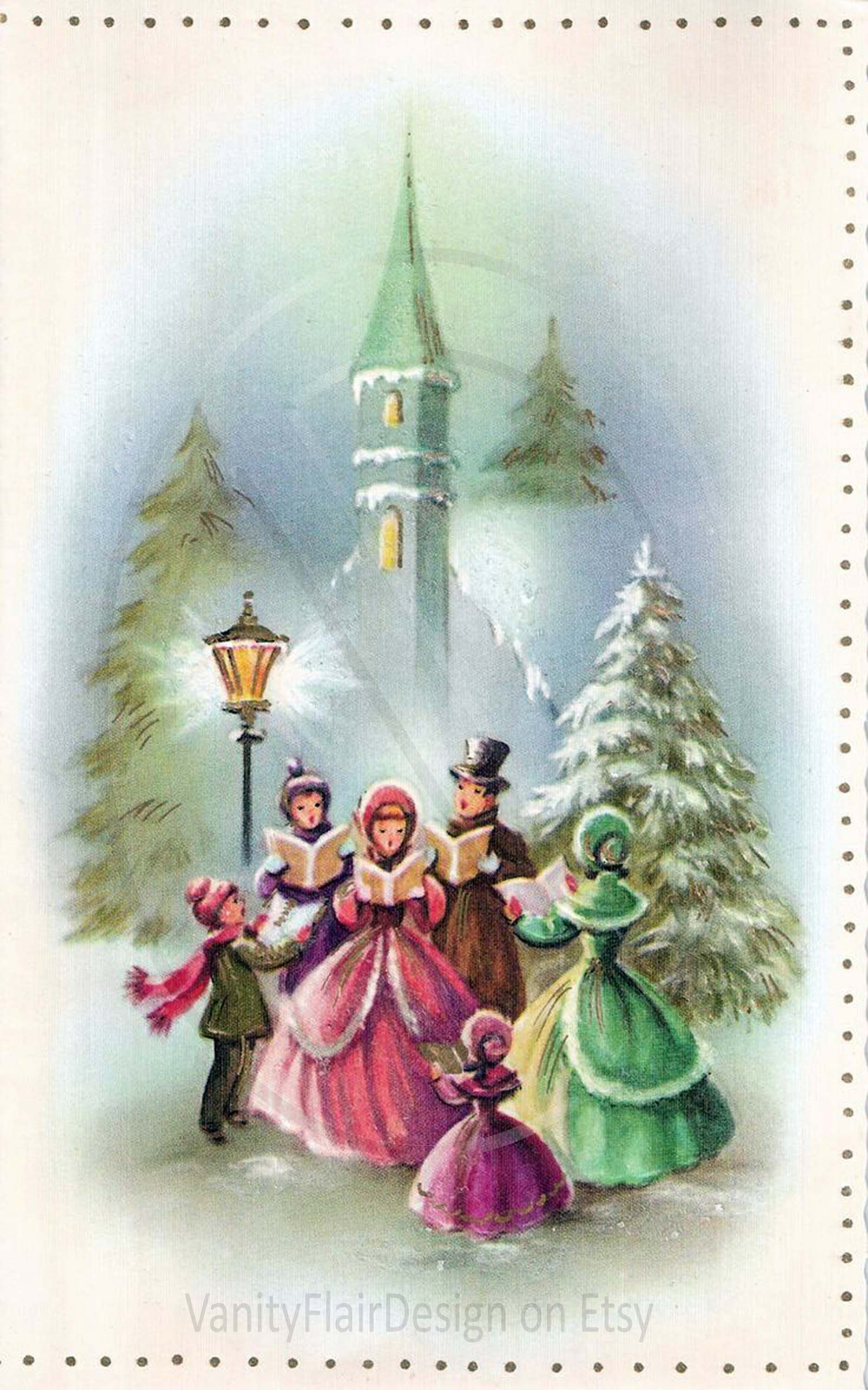 50 Vintage Victorian Christmas Post Cards Each Card 10 Long Or