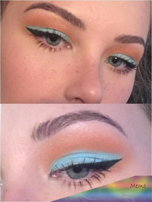 Photo of Aug 1, 2019 – Blue and peach winged eyeliner look! CCW : MakeupAddiction