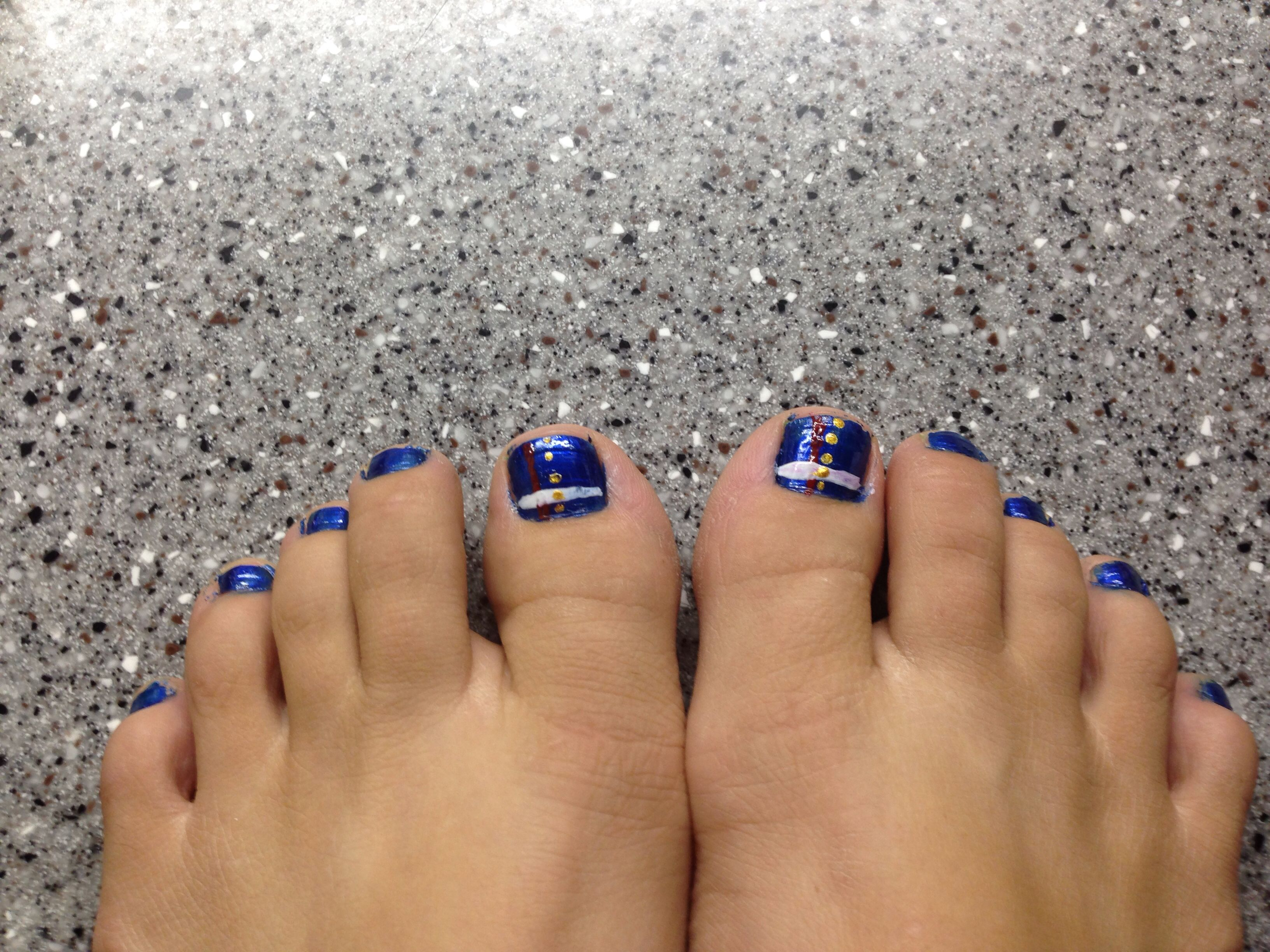 Marine Corps nails!! (Dress Blues) | Marine Corps Nail Art | Pinterest