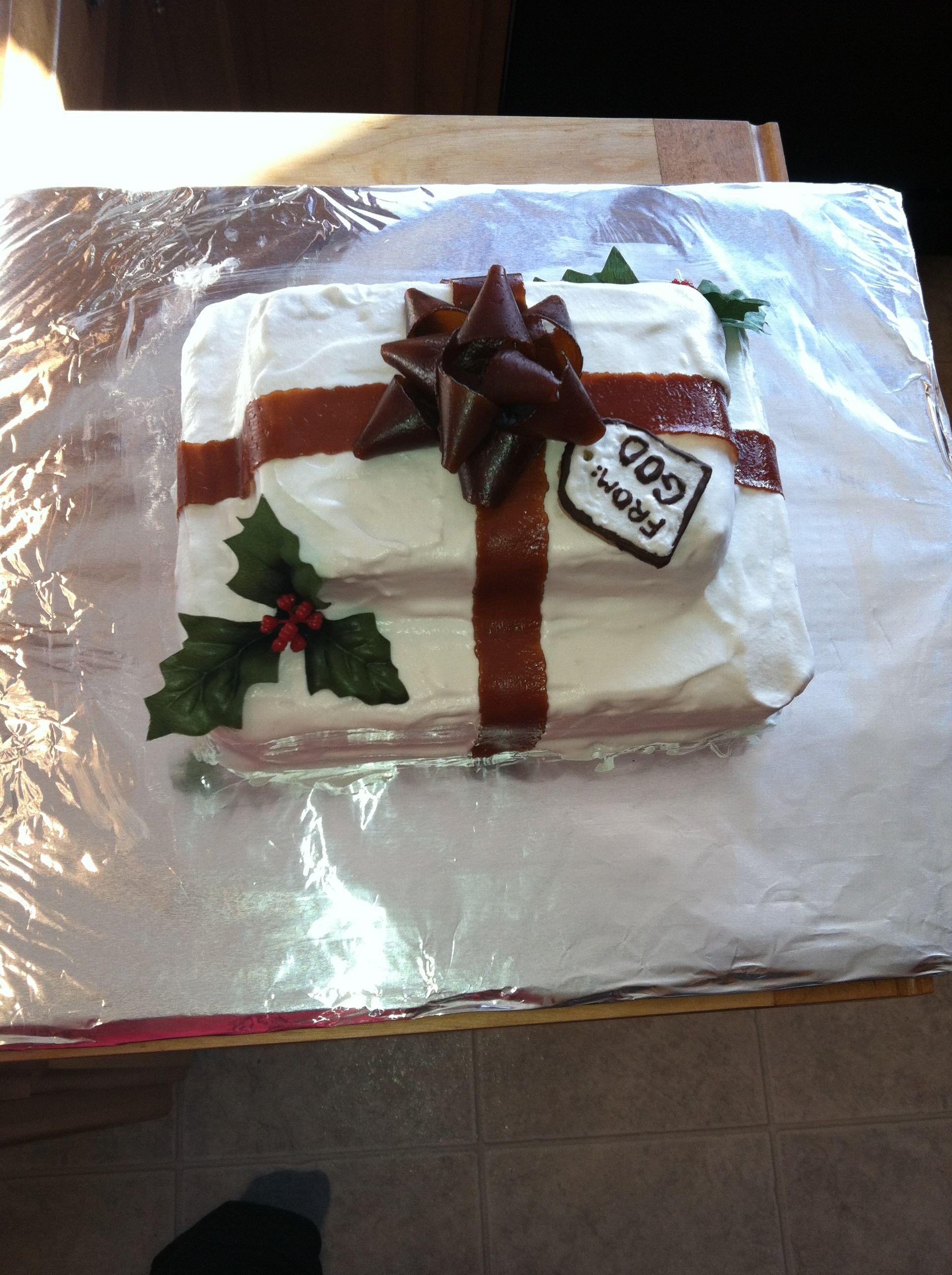 Present from God Jesus Birthday cake Jesus birthday