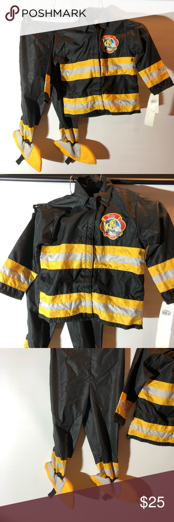 NWT Disney Store Mickey Firefighter Costume | Firefighter ...