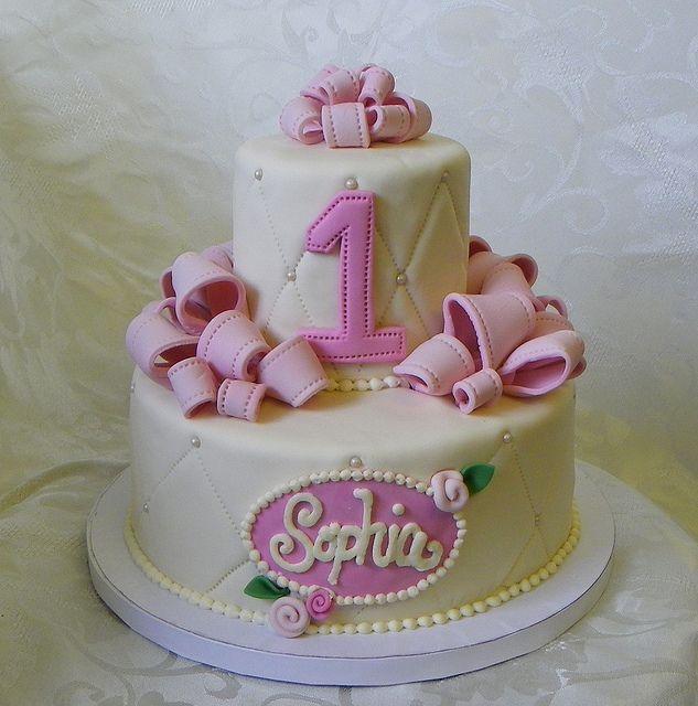 Pretty First Birthday Cake Dahlia Birthday Pinterest Birthday
