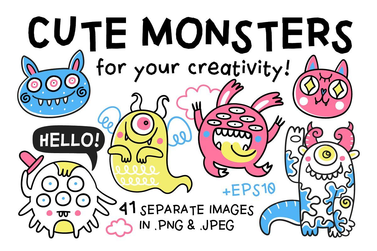 Summer Vibes illustration in 2020 Cute monsters, Space