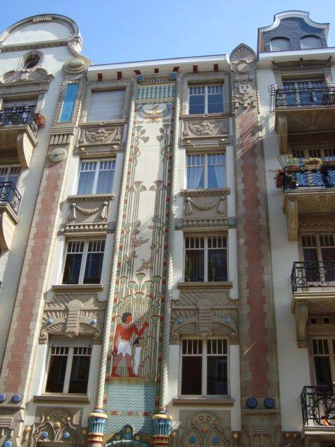 Immeuble egyptien 10 rue du g n ral rapp strasbourg for Rue du miroir strasbourg