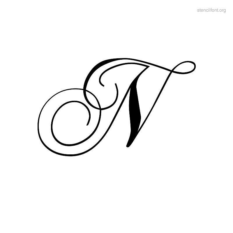 Script Stencil Font Chopin