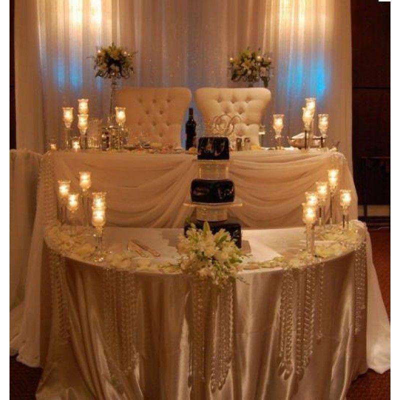 100pcs Hanging Crystals Acrylic Garlands 16 Wedding Crystal Ornaments For