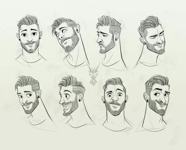 Male Character Design Expression Sheet Character Design Animation Cartoon Character Design Cartoon Expression