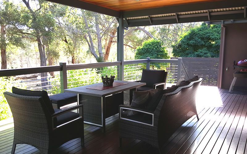 Relax On The Decking At Mistover Valley Yallingup Dunsborough